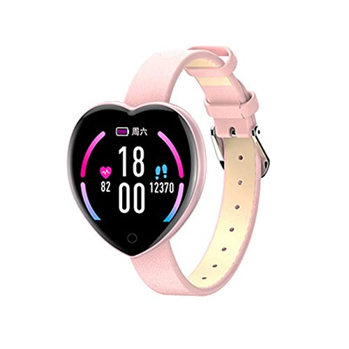 Smart Watch Women,pulsera deportiva de moda monitor de frecuencia cardíaca con Bluetooth,Smartwatch Valentine's Heart Gift,reloj de pulsera para teléfonos Android e iOS(Size:un tamaño,Color:rosado)