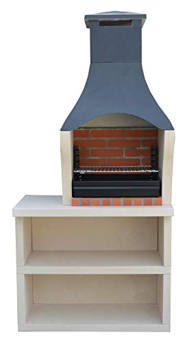 XclusiveDecor Firenze Charcoal Barbecue with Side Table H195cm x W95cm