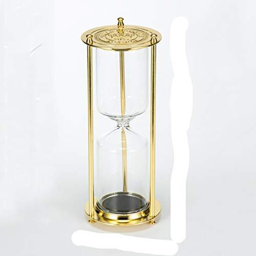 SIMEISM Hermoso reloj de arena de metal retro europeo reloj de arena vacío reloj temporizador sala de estar oficina escritorio decoración