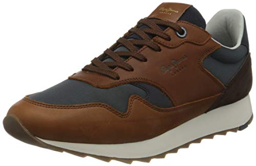 Pepe Jeans London Slab Urban Brown, Zapatillas para Hombre, 869tan, 46 EU