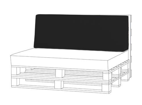 Shopisfy Outdoor Garden Pallet Furniture Seating Corner Sofa - Back Cushion Large Black