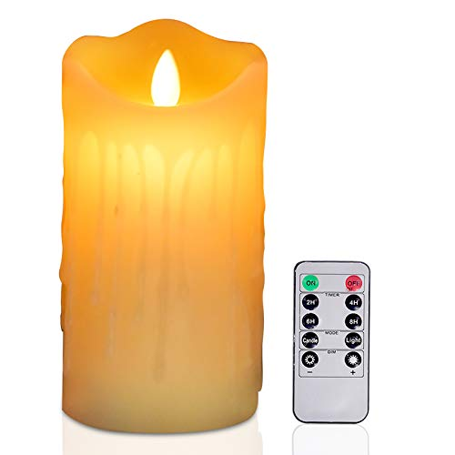 Candle Sets,Pillar Candles (high:6″,Diameter:3″ ) LED Candles,Battery Operated Candles,flameless Candles with Remote、 timers(Without Battery)