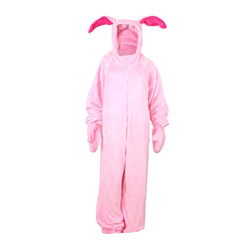 A Christmas Story Deluxe Bunny Suit Pajamas from Aunt Clara (Adult Small)