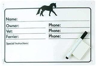 Centaur Horse Info Stall Plaque w- Dry Erase Pen