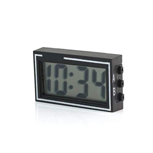 xiaocheng Mini portátil Digital LCD del Tablero de Instrumentos turística Fecha Hora Fecha Hora Hora Auto Car Calendario Reloj Negro artículos del hogar Práctica