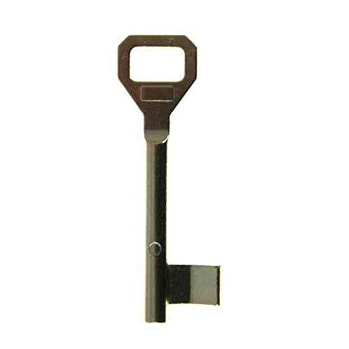 Buntbartschlüssel System Pegau - 70mm oder 90mm Länge - Ersatzschlüssel Zusatzschlüssel für BB-Schlösser im System Pegau - 12 Schweifungen auswählbar - Scheifung 338-90mm Länge