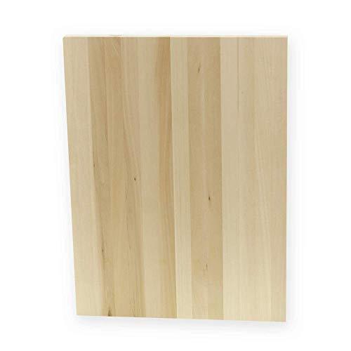 Azhna - Tabla de madera sin terminar, rectangular, sin pintar, madera maciza, para pintura, pirografía, manualidades (40 x 30 cm)