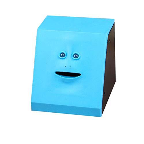 Geld Essen Face Box Nette Facebank Sparschwein Bank Lustige Geld Sparbank Kinderspielzeug Geschenk Dekoration (Panel blau)