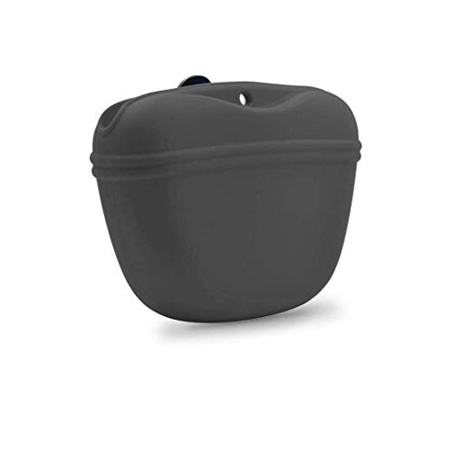 AUDWUD- Silicone Dog Treat Pouch - Clip on Portable Training Container ¨C Convenient Magnetic Buckle Closing and Waist Clip - BPA Free