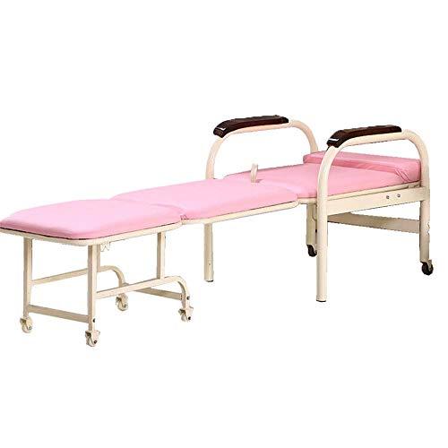 Camping Hängematte, Klappbett im Freien Klappbare Futon Stuhl Räder Einzelschlaf Gast zu Hause Schlafzimmer Wohnzimmer Büro Innen Hängematten & Liegen (Farbe
