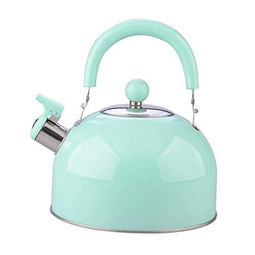 ZMHVOL 3 Liter ITea Kettle Modern Stainless Steel Whistling Teapot for ICooker Teapot Coffee Pot Indoor Outdoor Kettle BPA-Free Tea Kettle WANGHN