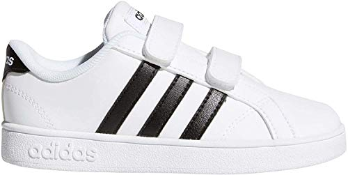 Adidas Baseline CMF INF, Zapatillas de Deporte Unisex niño, Blanco (Ftwbla/Negbas/Ftwbla 000), 27 EU