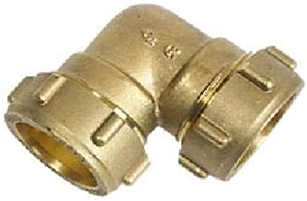 Codo enlace 3//8-12mm para tubo cobre rigido apriete con tuerca