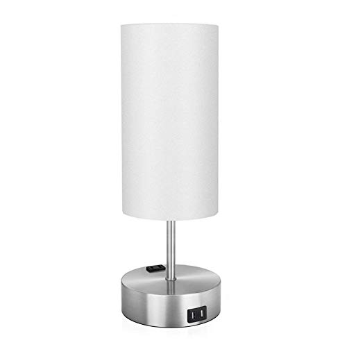 Cakunmik Bedside Lamp USB Charging Desk Lamp Touch Three-Speed Dimmer Switch Suitable for Living Room Study Room Bedroom (Including Light Bulb)