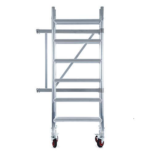 Andamio plegable de aluminio - plataforma sin trampilla - 3 m altura de trabajo