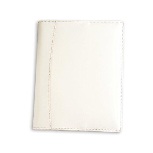 (ブラン・クチュール)BlancCouture 本革ルーズリーフバインダー 「B5サイズ 26穴」20mmリングファイル/ 国産フルタンニンドレザー(フレンチホワイト)