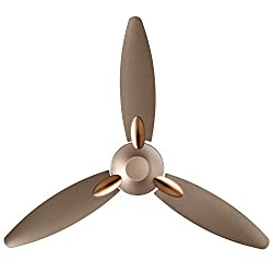 Usha Bloom Daffodil Goodbye Dust Ceiling Fan 1250mm, Sparkle Golden and Brown,USHA International Ltd,Bloom Daffodil