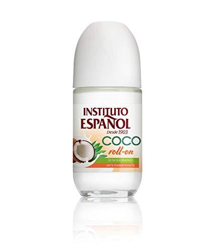 Instituto Español Desodorante de Coco Roll-On, Blanco, Fruity