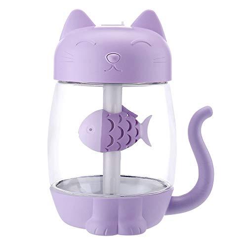 Kitty Cat Luftbefeuchter Drei -in -einem Lüfter LED -Luftreiniger USB -Büro Home Auto Mini Nachtbefeuchter Schlafzimmer Büro Wohnzimmer