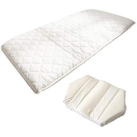 雲のやすらぎプレミアム 六角脳枕セット 返金保証付き 高反発マットレス/低反発枕 (シングル 100x200x17)