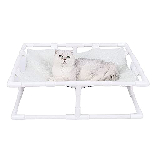 Förhöjda hundkatter Spjälsäng Upphöjda hundsängar för katter Små hundar, bärbar inomhus- och utomhus husdjur hängmatta säng vändbar