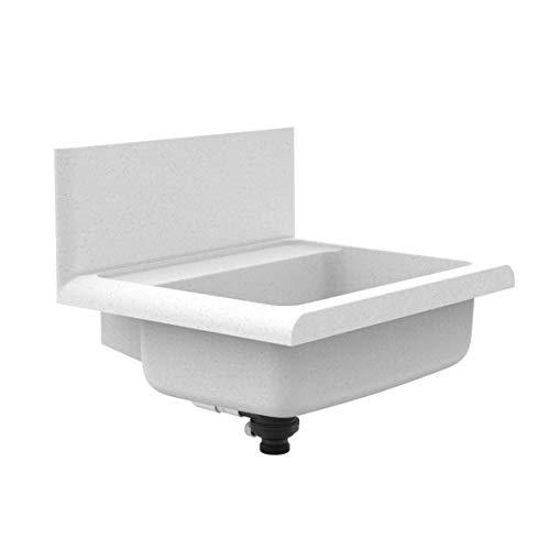 Sanit lineo Ausgussbecken (schlagfester Kunststoff, Granit, Fassungsvermögen 12 l, Überlauf Push-to-Open) 60.012.B6.0099
