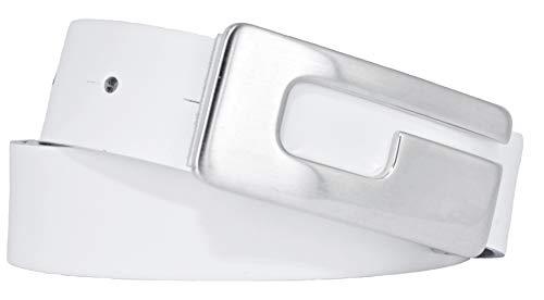 BERND GÖTZ Gürtel Damengürtel Ledergürtel 301425 Softleder 3cm (90, weiß (0010))