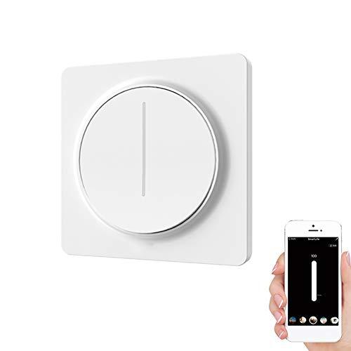 Smart Light Switch, Dimmer Switch Verwendung mit dimmbarer LED, CFL, Lampen Kompatibel mit Alexa, Google Assistant, Fernbedienung/Sprachsteuerung und Zeitplanung