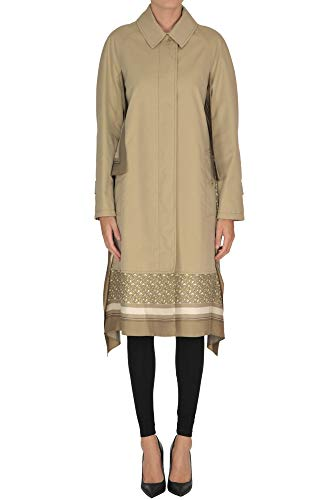 BURBERRY Foulard Inserts Trench Coat Woman Beige 40 IT