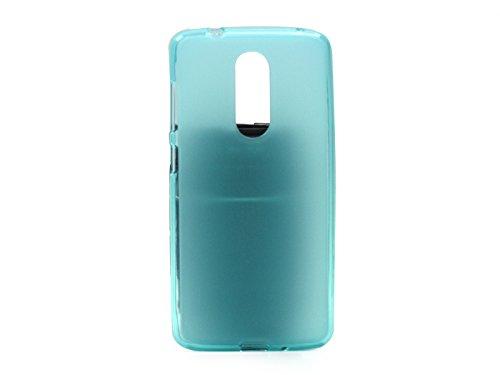 etuo Handyhülle für ZTE Axon 7 Mini - Hülle FLEXmat Hülle - Blau - Handyhülle Schutzhülle Etui Hülle Cover Tasche für Handy