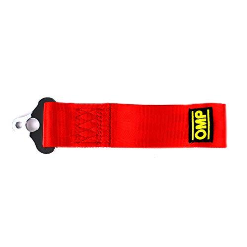 Omp OMPEB/578/R Gancho de Remolque de Acero Inoxidable, Rojo, Diámetro 100 mm