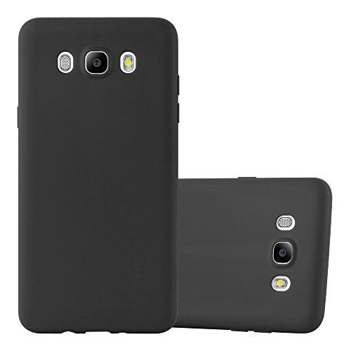 Cadorabo Hülle für Samsung Galaxy J5 2016 (6) - Hülle in Candy SCHWARZ – Handyhülle aus TPU Silikon im Candy Design - Silikonhülle Schutzhülle Ultra Slim Soft Back Cover Case Bumper