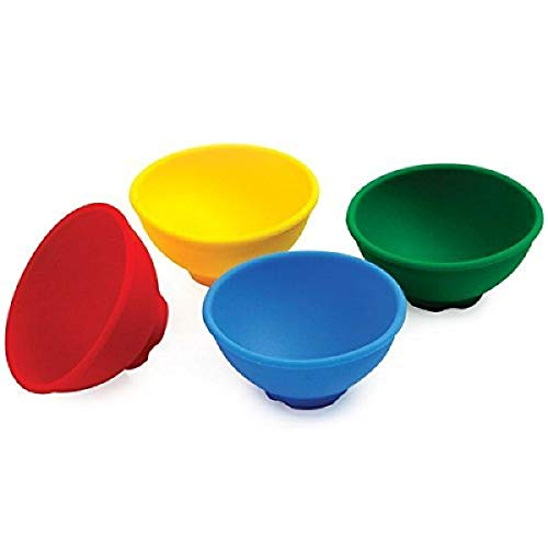 Norpro 408 Silicone Mini Pinch Bowls, Set of 4, 4-Pack, Multicolor
