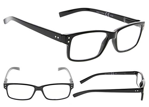 Reading Glasses 6-Pack Spring Hinges Includes Sunshine Readers