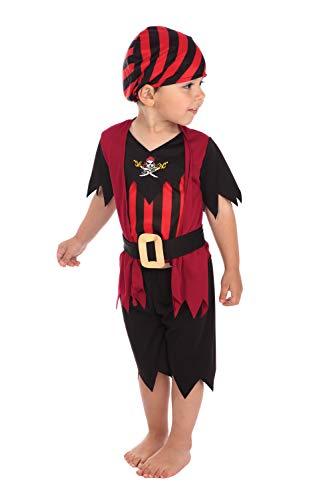 Bristol Novelty Pirat Kostüm für Kleinkinder