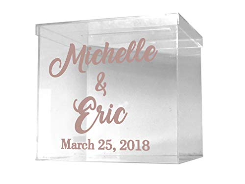 Clear Card Box - Wedding Card Box - Personalized Card Box - Wedding Keepsake Box - Acrylic Card Box - Wedding Card Box with Slot - Card Box for Wedding