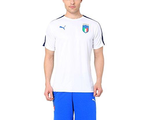 PUMA FIGC Italia Stadium SS Jersey, Hombre, Blanco (BlancoAzul Power), M