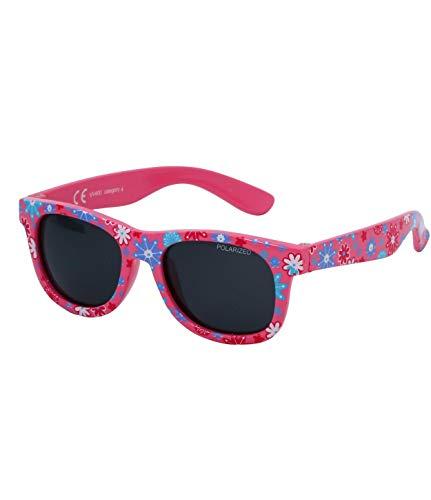 Kiddus Gafas de sol POLARIZADAS bebe, niño, niña, 8 meses.Patillas Flexibles. UV400 100% protección rayos UVA y UVB. Seguras, confortables y muy resistentes. LITTLE KIDS (30 Flores Rosa modernas)