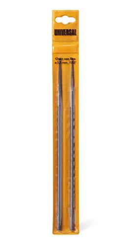 Universal GM577615705 Limas X 2 Redondas, FLO005 para Motosierra 2040 1935 S/CSE 1835/CS 50S, Afilado preciso, diam 5,5 mm, Accesorios McCulloch, Standard