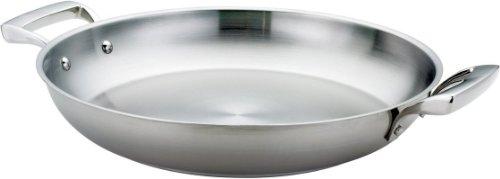 Browne (5724173) 12-1/2' Stainless Steel Paella Pan