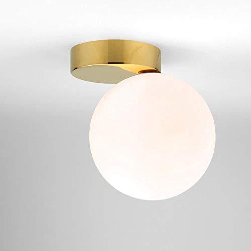 Moderne plafondlamp, eenvoudige bol, glas, plafondlamp, deksel, bedlamp, studeerkamer, woonkamer, hal, slaapkamer, montage, decoratieve plafondverlichting binnen, fitting E27