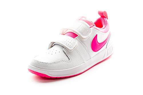 Nike Unisex-Kinder Pico 5 (PSV) Sneaker, Weiß (White/Pink Blast 102), 32 EU