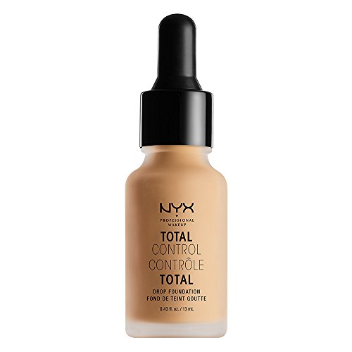 NYX Professional Makeup Base de maquillaje Total Control Drop Foundation, Dosificación precisa, Cobertura modulable, Larga duración, Fórmula vegana, Acabado mate, Tono: True Beige