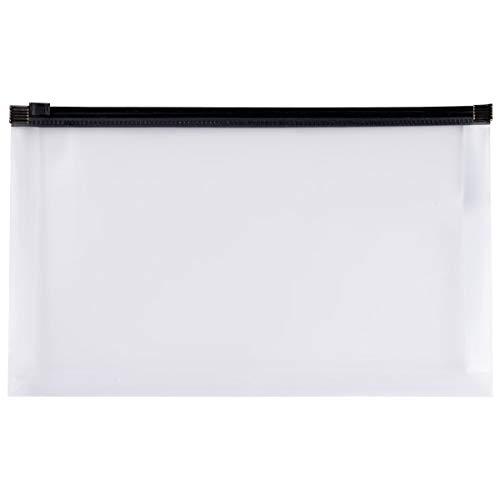 Office Depot ミニジッパー封筒 小切手サイズ 10-3/4インチ x 7インチ クリア/ブラック