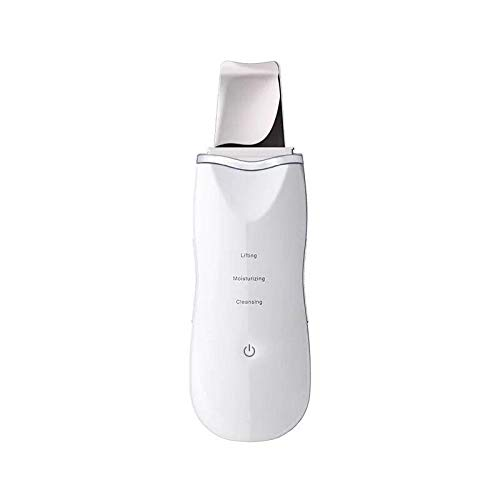 Facial beauty cleansing instrument blackhead acne horny ultrasonic shoveling machine electric household introduction instrument-White ultrasonic cleaning + vibration