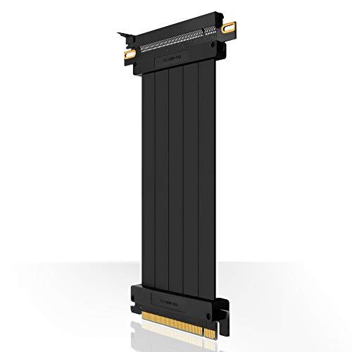 EZDIY-FAB [30cm PCIE 3.0 16x Cable Vertical de Alta Velocidad Extrema Puerto PCI Express Tarjeta de extensión GPU Conector Recto