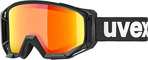 uvex Athletic CV Gafas de Bicicleta, Unisex-Adult, Black/Orange-Orange, One Size