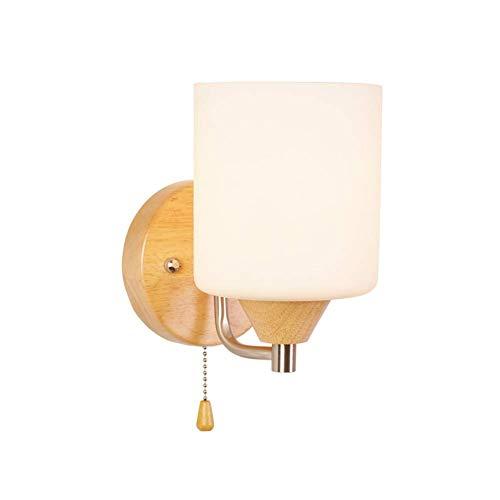 Wandlamp camera ladder zijkant van het bed van de wandlamp schakelaar gecompliceerde procedure elektriciteit rekening traditioneel rubber licht hout glas wandlamp White