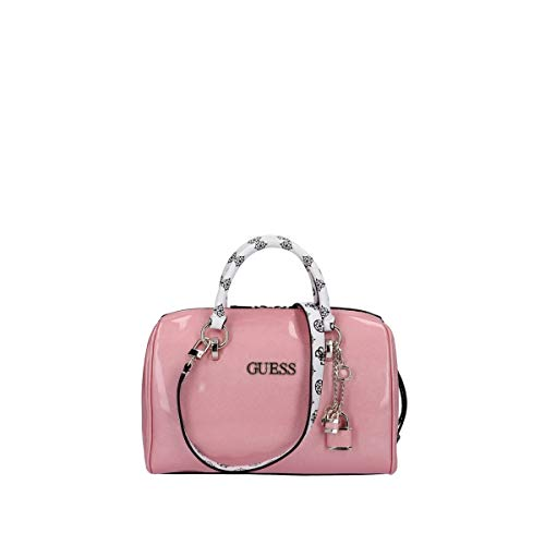 Guess WOMAN TRUCK BAG Exterior in imitation leather.Measures 30x20x16 cm.Zip closure with peony logo print on handles and shoulder strap.