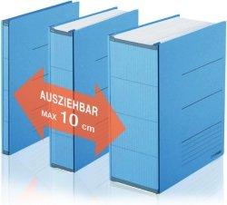 Plus Corporation Platzspar-Ordner ZeroMax blau ausziehbare Rückenbreite von 1 , 89808